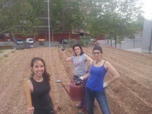 Voluntarias en el Eco Huerto